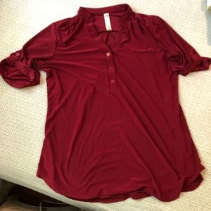 PerSeption Concept Maroon Blouse